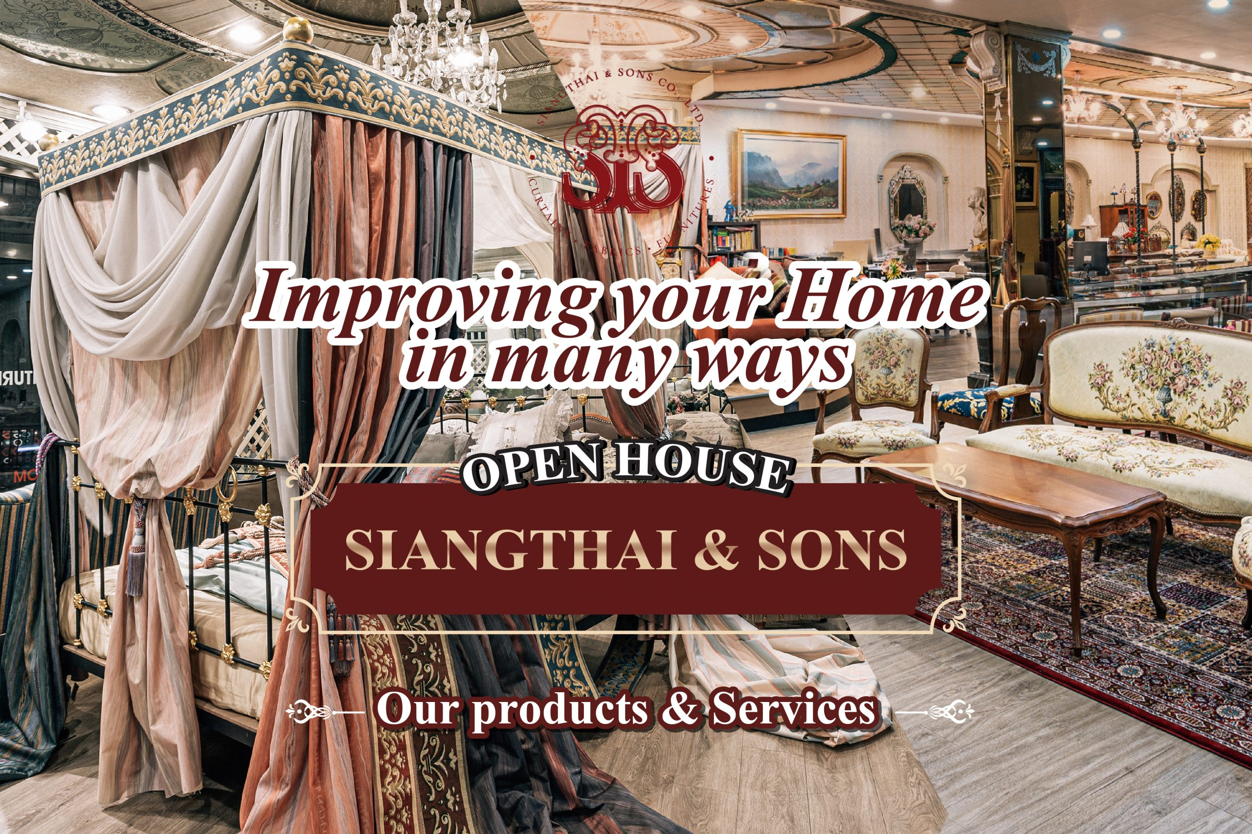 """Visit """"Siangthai & Sons"""" Showroom, and explore what we have to offer"""